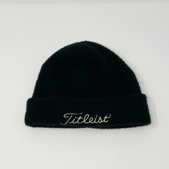Titelist Spellout Fleece Winter Beanie Hat Blue